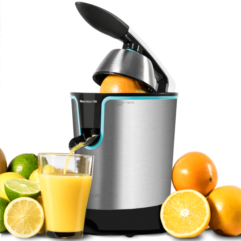 Cecotec Electric Orange Juicer Zitrus Adjust 160 Black Ideal for Extracting the Maximum Juices Healthy Easy to Use image