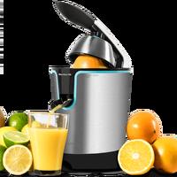O espremedor laranja elétrico de cocotec zitrus ajusta o ideal 160 preto para extrair os sucos máximos saudável fácil de usar|Espremedores| |  -