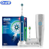Oral B Ultrasonic Electric Toothbrush Teeth Whitening PRO4000 3D Smart Rechargeable Sonic Tooth Brush Adult Gum Care