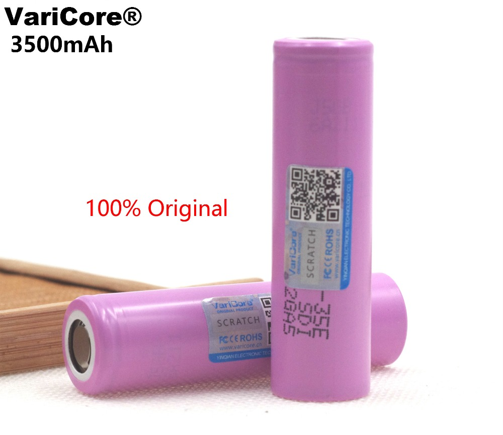 VariCore 35E original power 18650 lithium battery 3500mAh 3.7v 25A high power INR18650 35E for Samsung 2pcs new original lg hg2 18650 battery 3000 mah 18650 battery 3 6 v discharge 20a dedicated electronic cigarette battery power