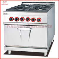 GH987B Gas Range With 4 Burner With Electric Oven
