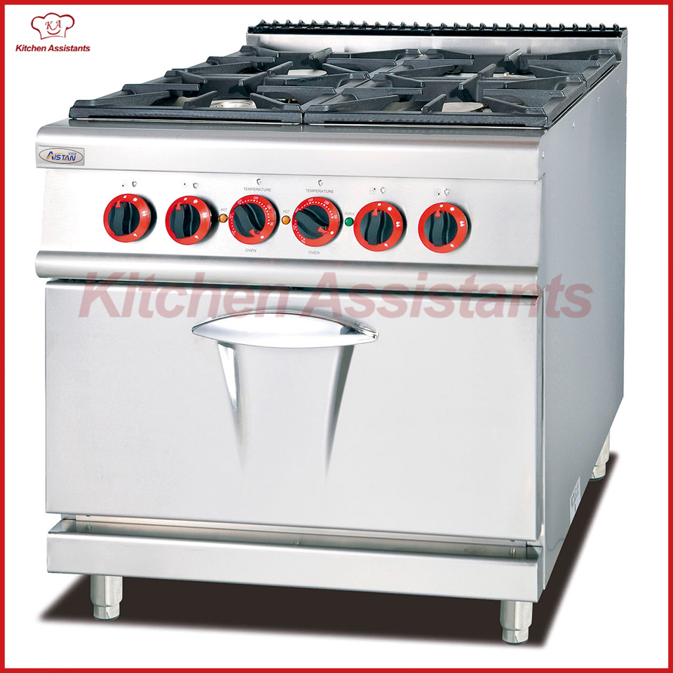GH987B gas range with 4 burner stove with electric oven of catering equipment gh2 gas range with 2 burner for commercial use