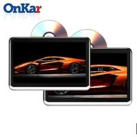 ONKAR 10,1 дюймов экран android 6,0 подголовник монитор Поддержка wifi bluetooth fm радио 1080 P HDMI SD карта USB с dvd cd плеер