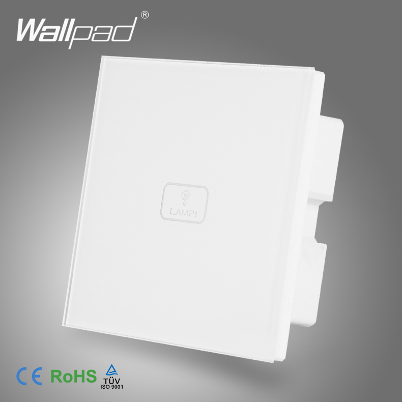 Smart Home 12V or 24V  Wallpad Luxury White Crystal Glass Panel Low Voltage 1 Gang 1 Way Touch Control Switch smart home eu touch switch wireless remote control wall touch switch 3 gang 1 way white crystal glass panel waterproof power