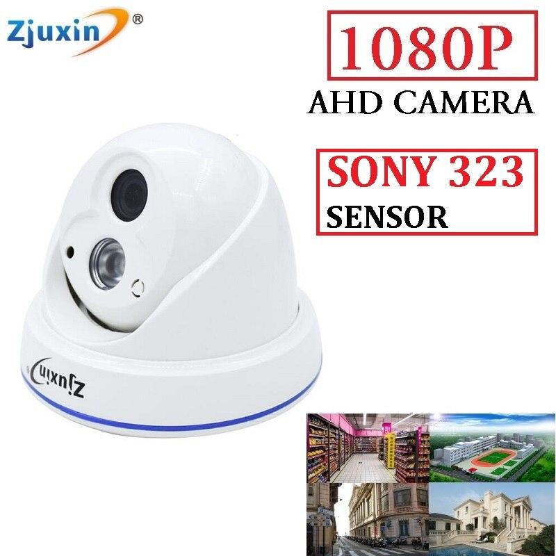 Zjuxin 1080P SONY SENSOR AHD CAMERA USE 1 GOOD ARRAY LED 2MP CCTV Camera Indoor 1080P 3.6mm lens 6in1 4ch 1080n ahd dvr kit 1080p sony sensor plastic dome indoor security camera use 1080p 3 6mm len 1pcs array led