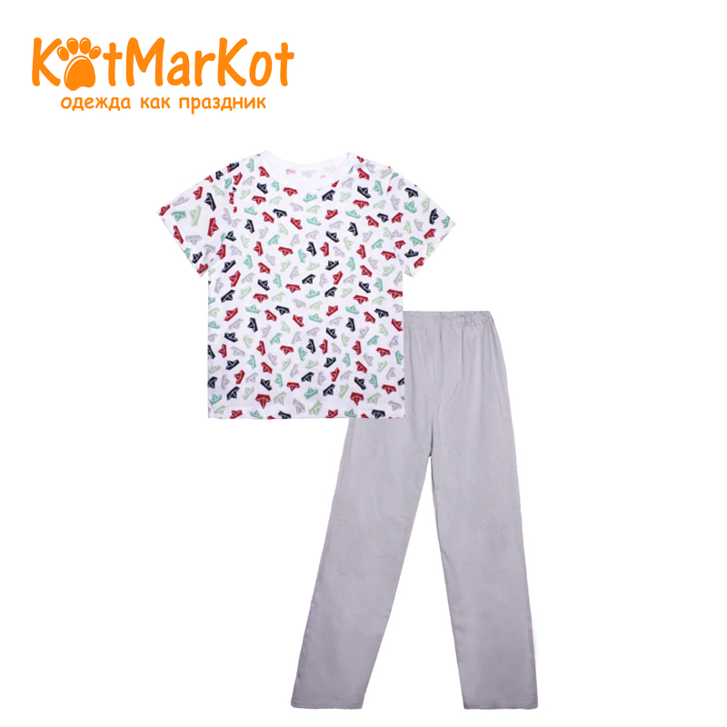 Фото - Pajamas Kotmarkot 16039 children clothing for boys kid clothes jeans sweet berrytextile trousers for boys children clothing kid clothes