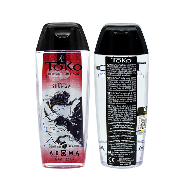 Shunga Toko Lubricant Cherry Aroma Intimate Transparent Natural Ingredients Compatible with Condoms and with Sex Toys Love 3