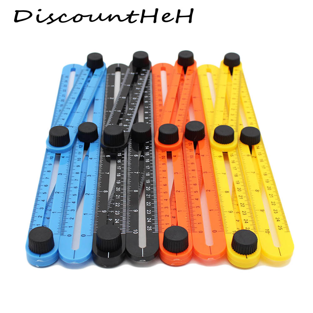 Top Sale Practical Four Folding Plastic Angle Ruler Metric Scale Multifunctional  Measuring tools