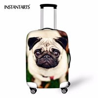 INSTANTARTS Travel Luggage Waterproof Covers For 18 30 Inch Suitcase Cute Animal Dog Thicken Elastic Protective