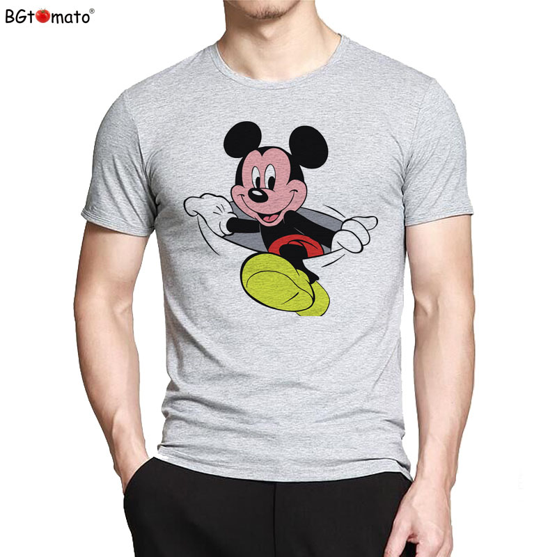 Camiseta Popular de Mickey de dibujos animados bgtook camiseta encantadora de Mickey Venta barata nueva camiseta camisetas divertidas para hombre camisetas para hombre