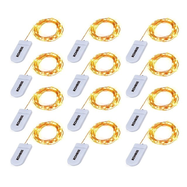 Kohree 12 pack micro 30 leds starry string light battery operated kohree 12 pack micro 30 leds starry string light battery operated on 98 ft long rope mozeypictures Image collections