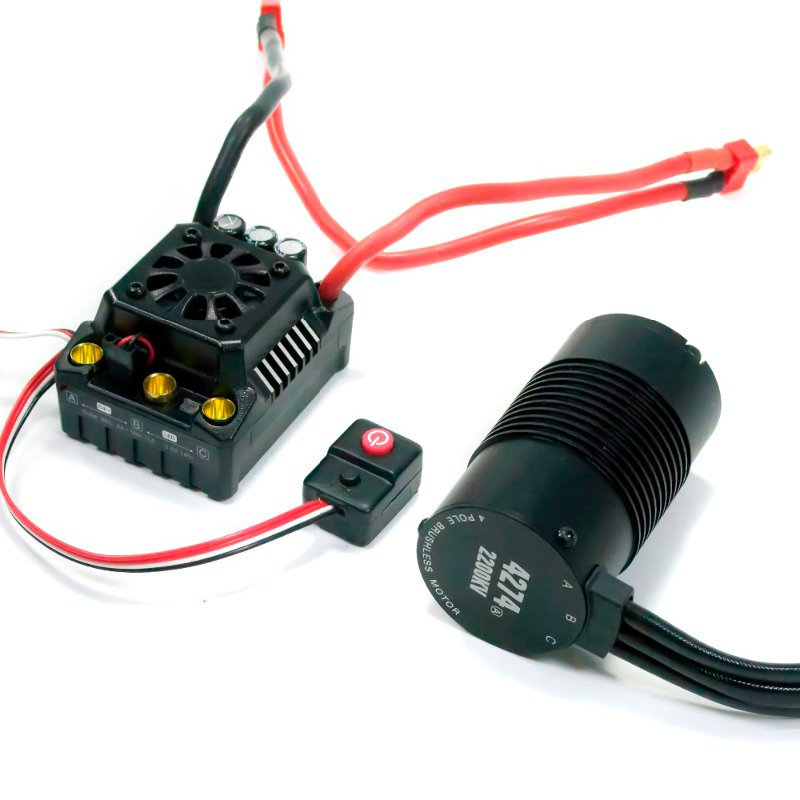 Hobbywing EzRun Max8 v3 150A Waterproof Brushless ESC T/TRX Plug+2200KV Motor Fo