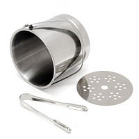 1L Stainless Steel Portable Beer Ice Bucket Champagne Cooler With Handle Ice Clip Practical Bar Container