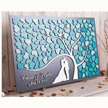 Персонализированная 3D Свадебная Гостевая книга, альтернатива, дерево сердец, Свадебный декор, уникальная Гостевая книга, деревянный древо жизни, свадебный подарок