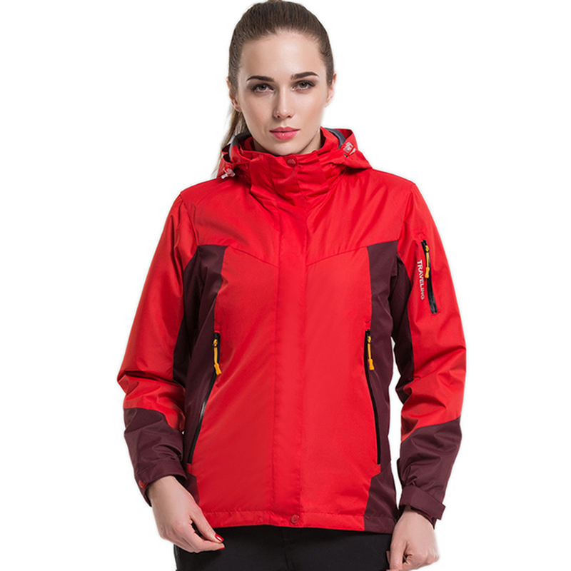 Winter 2 Pieces Thermal Softshell Fleece Woman Jackets Outdoor Waterproof Couples Coat Hiking Trekking Skiing Climbing Man Coats стоимость