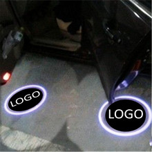 цена на JingXiangFeng 2 pcs Case For Citroen For Cadillac Car Door Welcome Light Car LED Laser Logo Ghost Shadow Light Warning lights