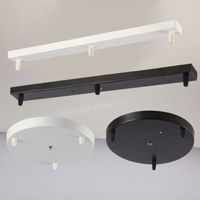 Round Ceiling Plate Canopy Plate Chandeliers Lamp Base Rectangular