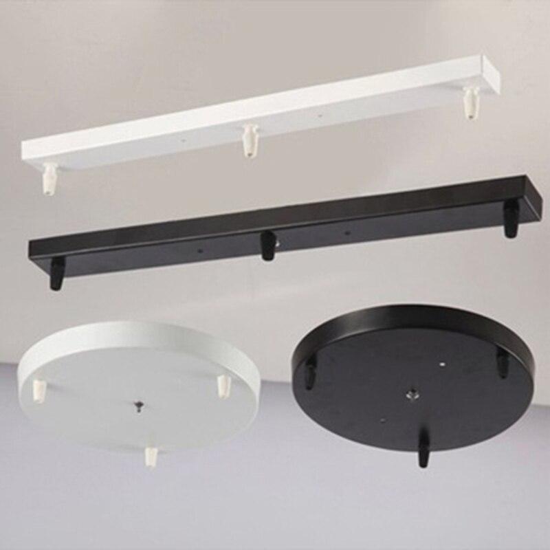 Runde Decke Platte Baldachin Platte Kronleuchter Lampe Basis Rechteckigen  DIY Lampe Zubehör Für Seil Anhänger Licht Basis