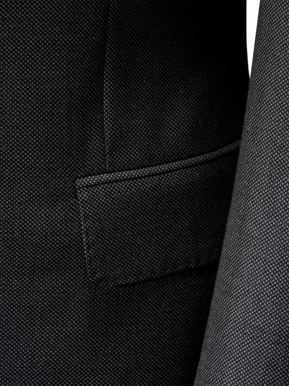 2019 Dark สีเทา Nailhead ชุดสมัยใหม่ Essential สำหรับปีสวมใส่รอบ Custom Made Slim Fit ชุดธุรกิจชุด Bestseller-ใน สูท จาก เสื้อผ้าผู้ชาย บน   2