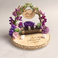 1pcs creative custom name Wedding proposal Ring bearer engagement Rustic ring box Customized Forest bird nest ring pillow