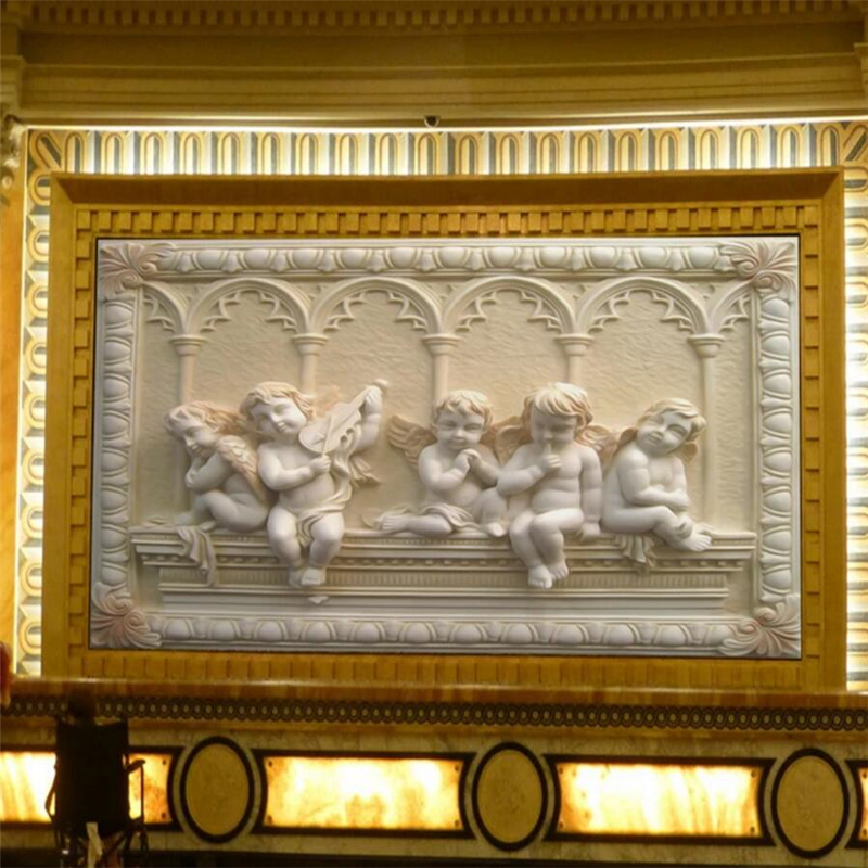 Купить с кэшбэком wellyu European three-dimensional relief mural angel baby wall custom large mural wallpaper papel de parede para quarto
