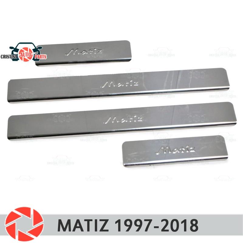 цена на For Daewoo Matiz 1997-2018 door sills step plate panel protectection car styling decoration interior molding door stamp