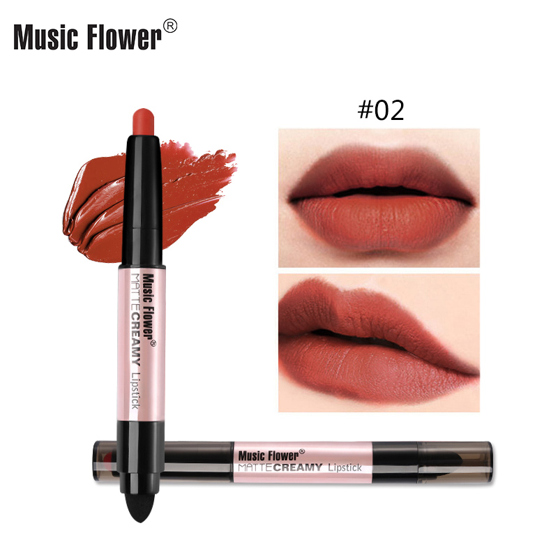Music Flower 12 Glamorous Colors Matte Қарындаш Ерін - Макияж - фото 1