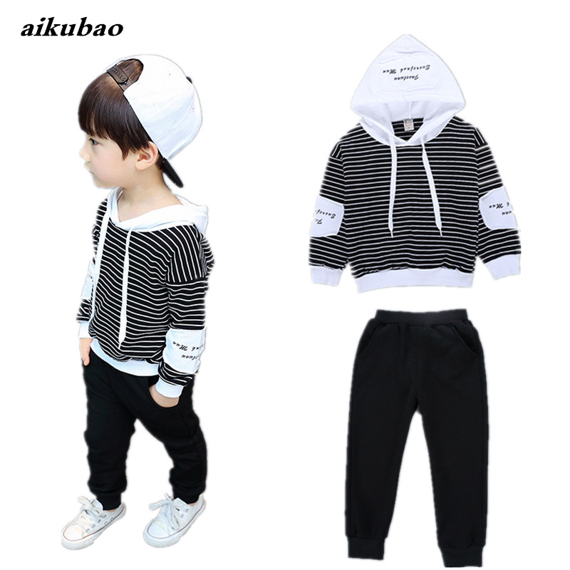 baby boys clothing sets 100% cotton baby kids products 2018 new boys hoodie + pants 2pcs children clothing for spring autumn