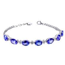 2018 new Chain Link Luxury Bracelets Women Jewelry White  Blue Oval Crystal bracelets