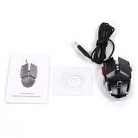 G50 Gaming Mouse Breathing LED Optical Wired Mechanical Game Mice For PC Notebook Laptop Computer 4000DPI