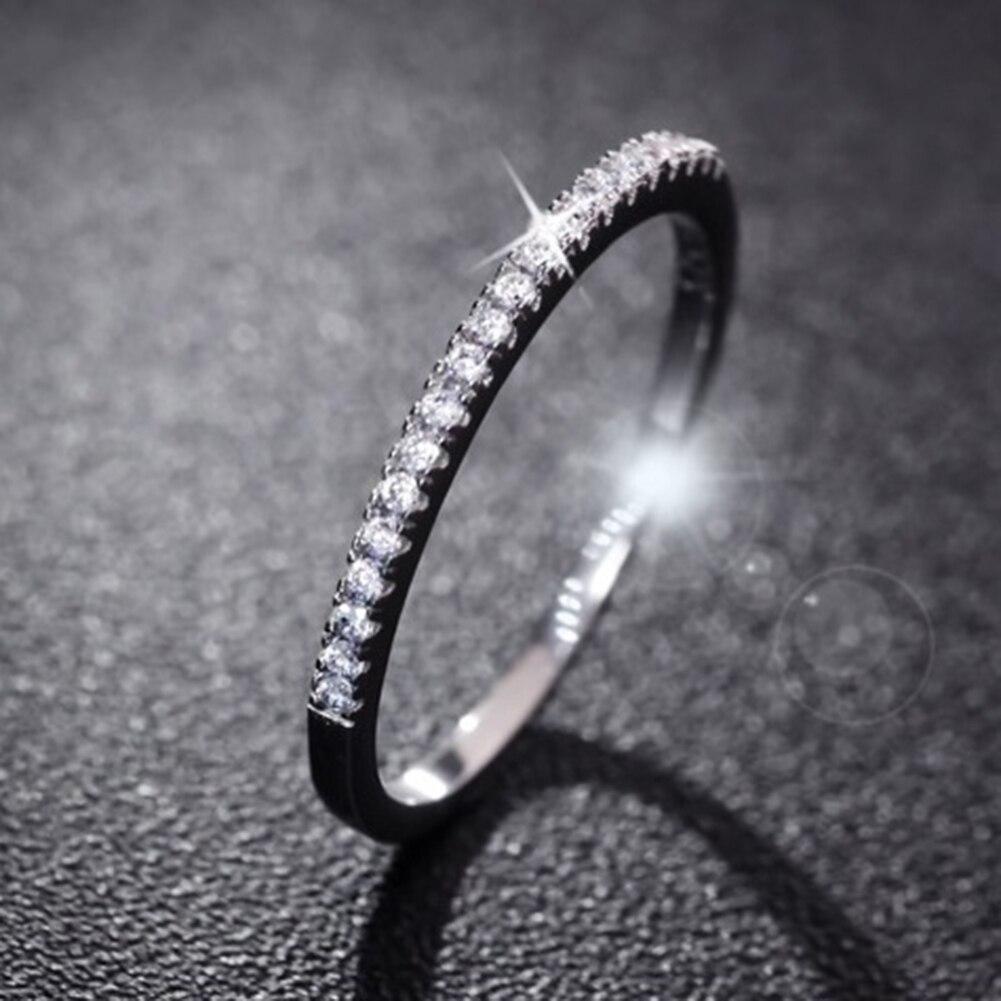 Модные женские туфли 925 серебро со стразами Свадебные Обручение кольцо изделия тонкий Aros Анелло anillo bague Анель ...