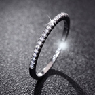 Fashion Women 925 Sterling Silver Rhinestone Wedding Engagement Ring Jewelry Thin Aros anello anillo bague anel