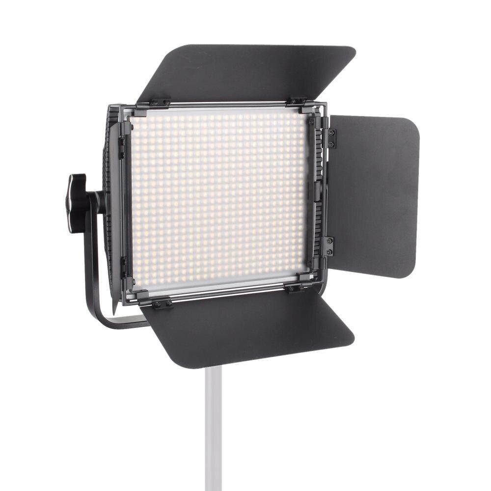 FotoPal ES600B CRI95 + 600 pièces Ampoule 36 W Dimmable Led Vidéo Lumière Continue Panneau En Aluminium/w 2.4G Télécommande Sans Fil