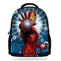 14Inch Popular Children Backpacks To School Girls Boys The Avengers Bag Ironman Captain America Softback For Kids Teenagers
