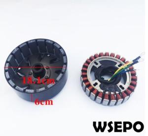 Image 2 - 5000W 27 Pole 48V/60V/72V DC Generator Build Kit(stator,rotor,controller,rectiifer etc.) fits on 19mm tapered 55mm output shaft