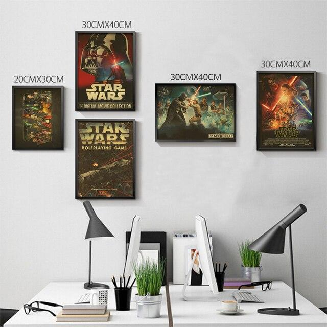 Звездные войны Плакаты Rogue One Плакаты фильм Плакаты винтажные Плакаты Наклейки на стену дома deocration без водяного знака