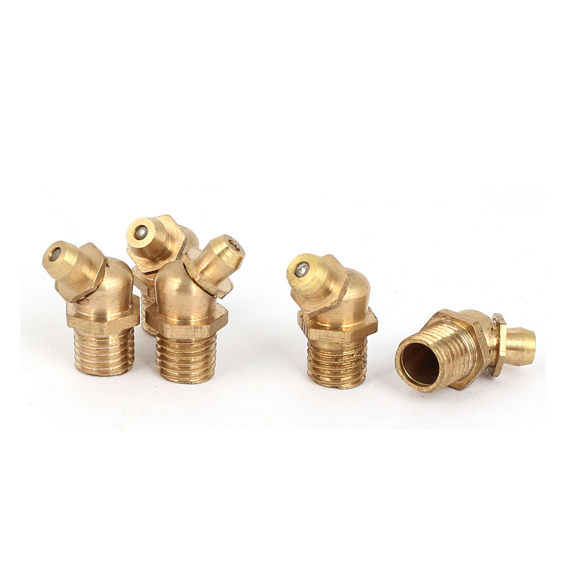 uxcell Brass 6mm Male Thread Hydraulic Grease Nipple 5Pcs