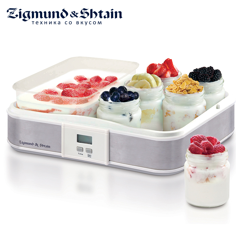 Zigmund & Shtain YM-216DB Yogurt Maker 21.5W Glass jars 6 pcs. Timer up to 15 hours kitchen timer digital lcd cooking timer electronic full vision swivel hook count down up clock loud alarm magnetic stand timer