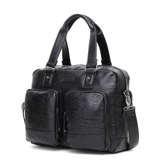 CROSS OX Мужская сумка из кожзама Большая дорожная Сумка через плечо HB559