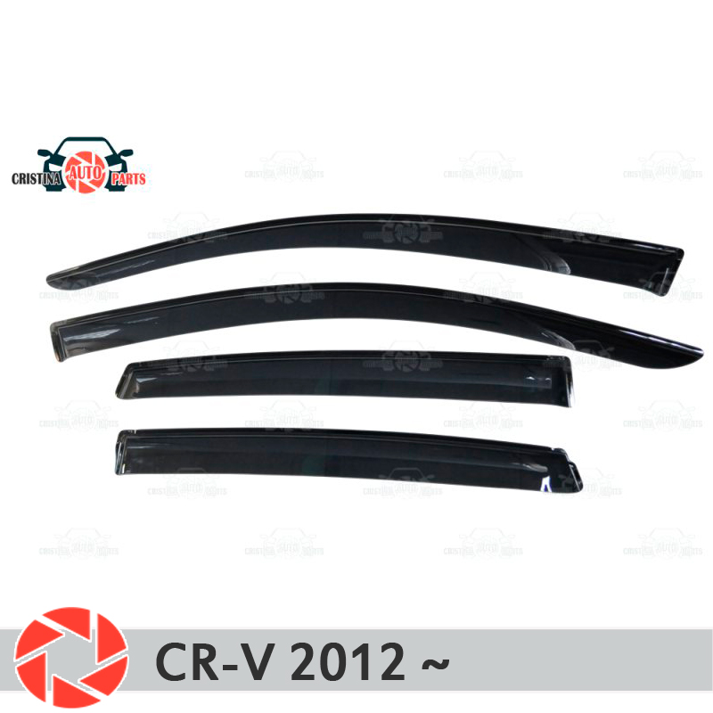 цена на Window deflector for Honda CR-V 2012~ rain deflector dirt protection car styling decoration accessories molding