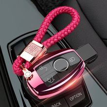 tpu key shell Car Key Case Cover Full protection Chains Bag For Mercedes-Benz C E S M CLS CLK GLK GL Class for girls