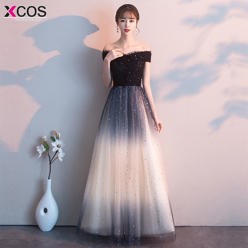 2019 Black Prom Dresses Long A-line Sleeveless Off-Shoulder Sweetheart New Party Gowns For Wedding Guest Elegant Sexy Gala Jurk
