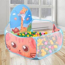Children Outdoor Toys Ball Foldable Outdoor Indoor Tent Kids Game Play Toy Ocean Ball Pool Tent House Play Toy Birthday Gift 1 foldable baby playpen hexagon star moon balls pool pit indoor outdoor children baby toy game play house kids gift play tent