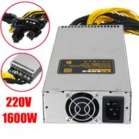 220V 1600W Power Supply 6Pin PCI E 95 For Mining Machine For Antminer S9 S7 L3