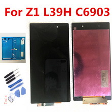 5.0 Original for SONY Z1 C6903 L39H LCD Display For SONY Xperia Z1 LCD Display Touch Screen Digitizer C6906 C6943 C6902 LCD mooncase лич кожи кожа флип сторона кошелек держателя карты чехол с kickstand чехол для sony xperia z1 l39h грин