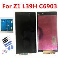 """5.0 """"oryginalny dla SONY Z1 C6903 L39H wyświetlacz LCD dla SONY Xperia Z1 wyświetlacz LCD ekran dotykowy Digitizer C6906 C6943 C6902 LCD"""