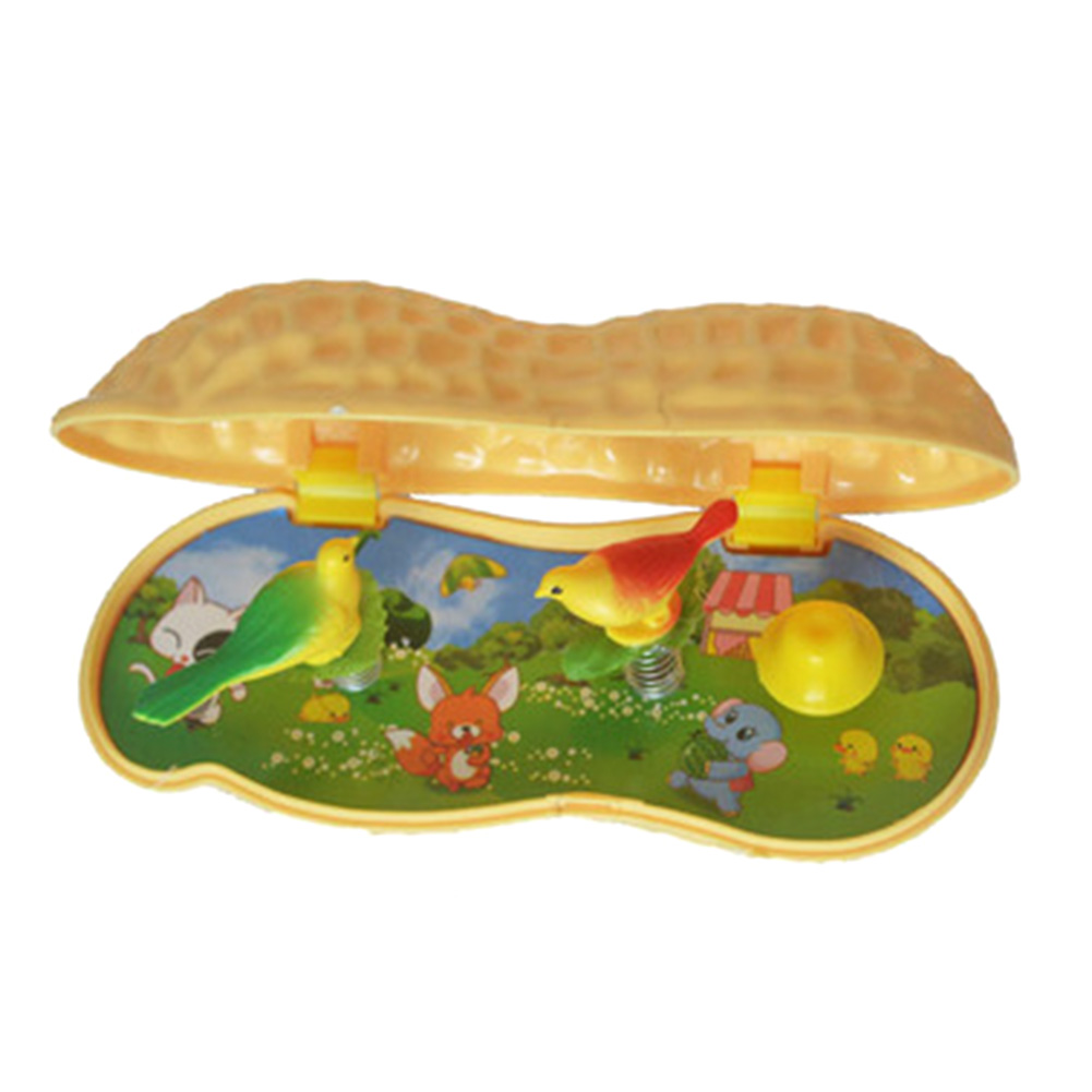 New Arrival Funny Plastic simulation Peanut Music Box Home Decoration Toys Novelty Gag T ...