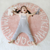 LADJMW Wind Northern Europe 26 Individual Letter Round Pad Children Game Carpet Tent Land Baby Room Soft Wear