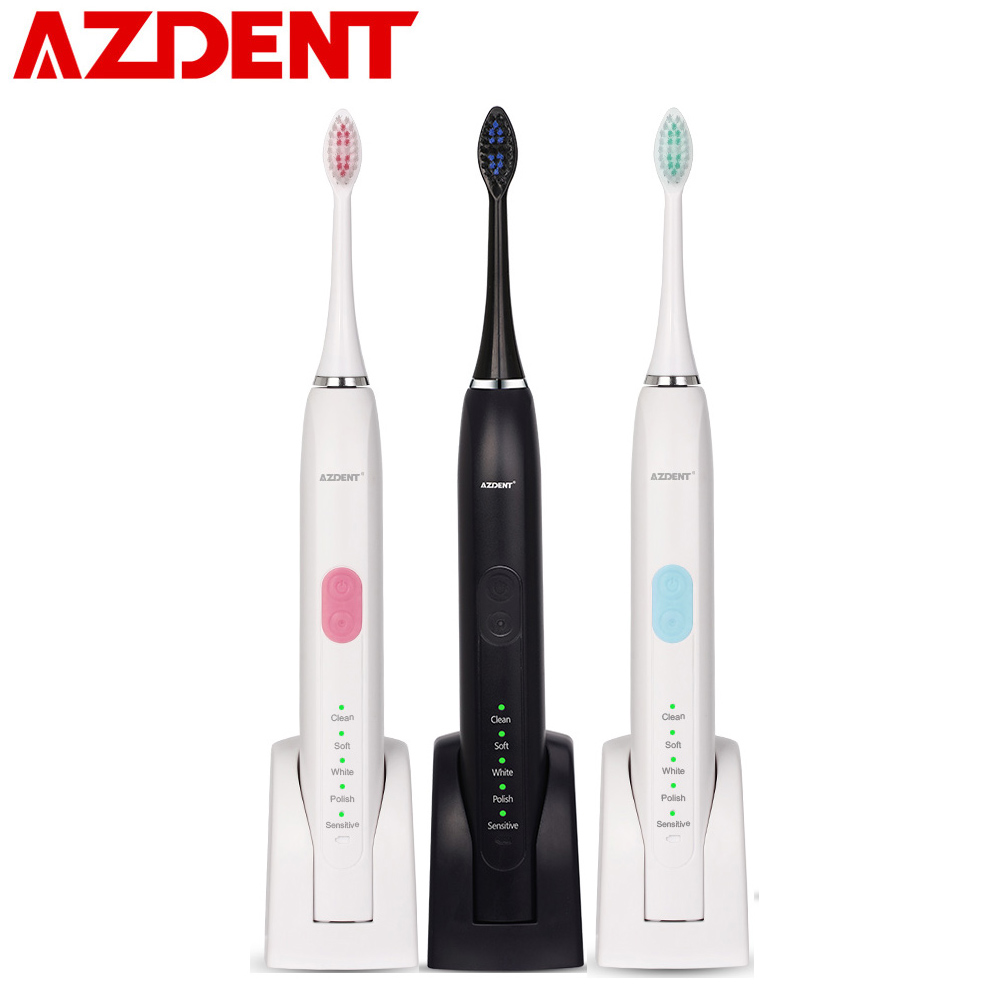 5 Cleaning Mode Ultrasonic Electric Toothbrush Rechargeable Sonic Teeth Tooth Brush 2pc Heads 2 Minutes Timer Oral Deep Cleaning yasi fl a12 ultrasonic vibration rechargeable electric power teeth care toothbrushes with three brush head 5 mode protection