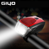 GYIO IPX5 Waterproof Bike Light Bicycle Rear Tail Light LED Flash Cycling Safety Warning Lamp Bike Front Head Rechargeable Light